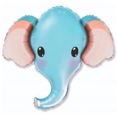 Шар Фигура Слоник голубой голова (в упаковке)