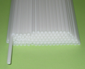 Трубочка полимерная для шаров, флагштоков и сахарной ваты БЕЛАЯ