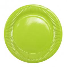 Тарелки бумажные ламинированные Зеленый / Green