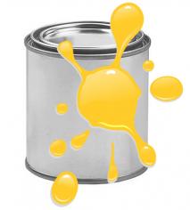 Краска для печати на воздушных шарах, Желтый