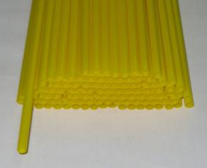 Трубочка полимерная для шаров, флагштоков и сахарной ваты ЖЕЛТАЯ