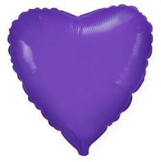 Шар Сердце, Фиолетовый / Violet (в упаковке)