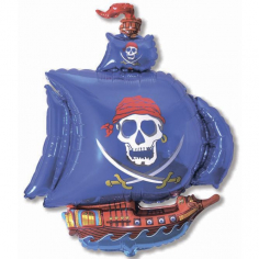 Шар Мини-фигура Пиратский корабль, Синий / Pirate Ship (в упаковке)