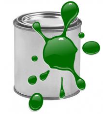 Краска для печати на воздушных шарах, Темно-Зеленый