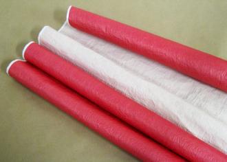 Бумага Эколюкс (жатая) пастель Красный / Кофе с молоком