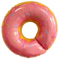 Шар Фигура Пончик, Розовый