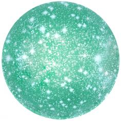 Шар Круг, Искры, Зеленый / Green (в упаковке)
