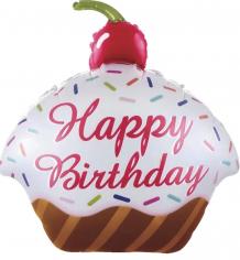 Шар Фигура Кекс с Днем Рождения (в упаковке)
