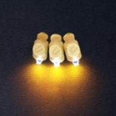 Светодиоды 3D Желтый в оболочке
