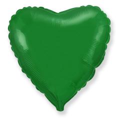 Шар Сердце, Зелёный / Green (в упаковке)