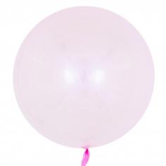Шар Сфера 3D, Deco Bubble, Розовый, Кристалл (в упаковке)