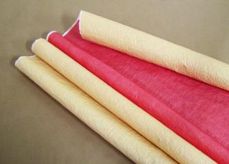 Бумага Эколюкс (жатая) пастель Красный / Желтый