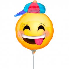 Шар Мини-фигура Веселый смайлик в кепке / Happy emoticons with hat (в упаковке)