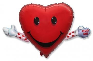 Шар фигура, Сердечко Обними меня / Love & Hug (в упаковке)
