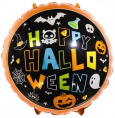 Шар круг Время Хэллоуина, Черный (в упаковке)