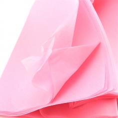 Бумага упаковочная тишью Розовая / листы 50*66 см
