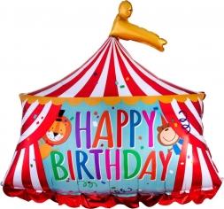 Шар Фигура, Цирк Шапито, С Днем Рождения (в упаковке)
