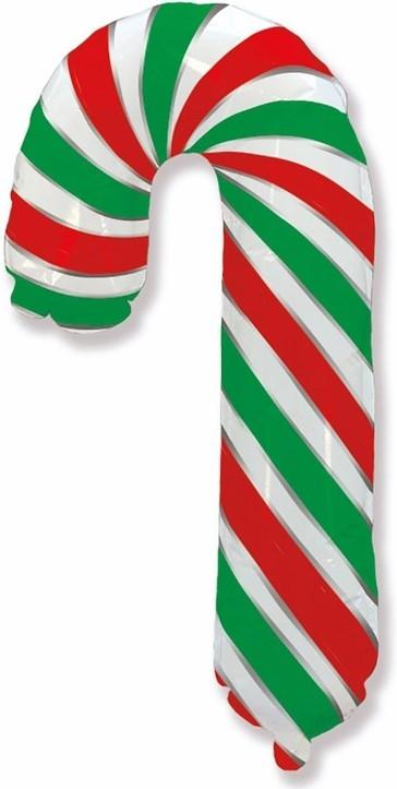 Шар Фигура, Леденец трость, Красный-Зеленый (в упаковке)