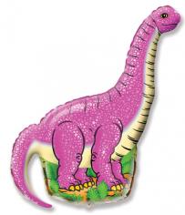 Шар Мини-фигура, Диплодок (фуксия) / Diplodocus (в упаковке)