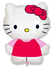 Шар Мини-фигура Котенок с бантиком Хелло Китти / Hello Kitty (в упаковке)