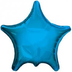 Шар Звезда, Остроконечная, Голубой / Blue (в упаковке)