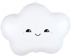 Шар фигура, Счастливое облако, Белый (в упаковке)