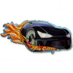 Шар фигура, Гоночная тачка, черная / Hot Car red (в упаковке)