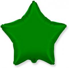Шар Звезда, Зелёный / Green (в упаковке)