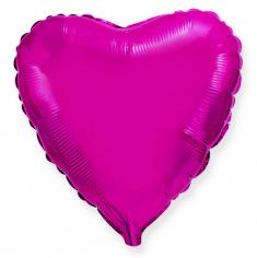 Шар Сердце, Лиловый / Purple (в упаковке)