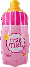 Шар Фигура, Бутылочка для малышки, Розовый (в упаковке)