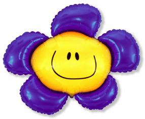 Шар фигура, Цветочек (солнечная улыбка) фиолетовый / Flower (в упаковке)