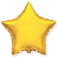 Шар Звезда, Золото / Gold (в упаковке)