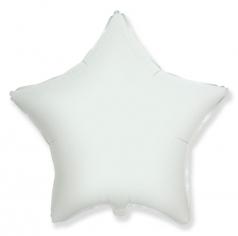 Шар Звезда, Белый / White (в упаковке)
