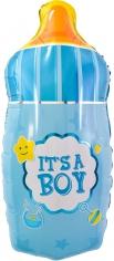 Шар Фигура, Бутылочка для малыша мальчика, Голубой (в упаковке)