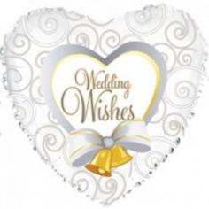 Шар Сердце, Свадебные колокольчики, Белый