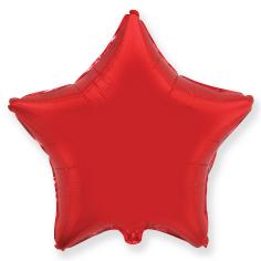 Шар Звезда, Красный / Red (в упаковке)