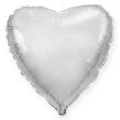 Шар Сердце, Серебро / Silver (в упаковке)