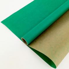 Крафт-бумага вержированная Травяная (Зеленая) / рулон