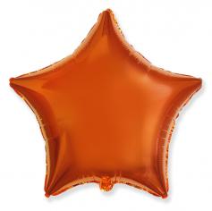 Шар Звезда, Оранжевый / Orange (в упаковке)