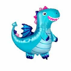 Шар Фигура, Динозаврик, Голубой (в упаковке)