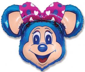 Шар Фигура, Супер Лолли Маус (синий) / Lolly Mouse Super (в упаковке)