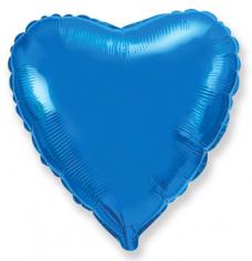 Шар Сердце, Синий / Blue (в упаковке)