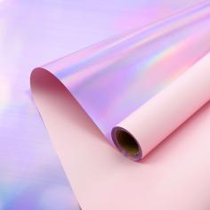Пленка матовая двухсторонняя с переливом Розовая