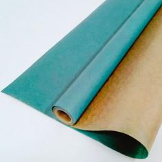 Крафт-бумага вержированная Морская волна / рулон