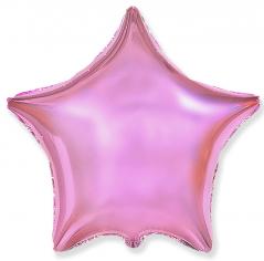 Шар Звезда, Розовый нежный / Light Pink (в упаковке)