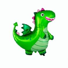 Шар Фигура, Динозаврик, Зеленый (в упаковке)