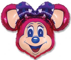 Шар Фигура, Супер Лолли Маус (фуксия) / Lolly Mouse Super (в упаковке)
