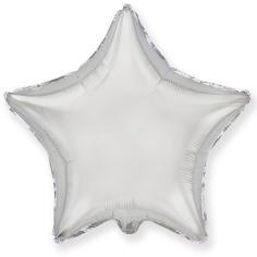 Шар Звезда, Серебро / Silver (в упаковке)