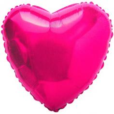 Шар Сердце, Фуксия / Fuchsia (в упаковке)