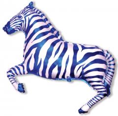 Шар Мини-фигура Зебра (синяя) / Zebra (в упаковке)